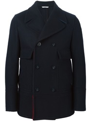 Valentino Double Breasted Peacoat Brown