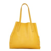 Liebeskind Niigata Reversible Leather Shopper Bag Amber Yellow