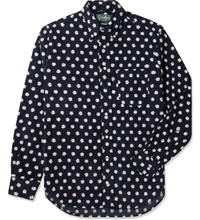 Navy Daisy Cord Vintage Button Down Shirt
