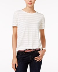 Tommy Hilfiger Emery Striped T Shirt Only At Macy's Snow White