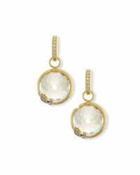 Jude Frances Sonoma Round Champagne Citrine Earring Charms With Diamonds
