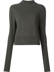 Dion Lee 'Slit Back Skivvy' Knitted Blouse Green