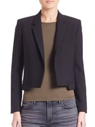 Helmut Lang Stretch Cropped Blazer Black
