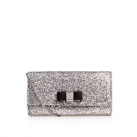 Carvela Dillon Clutch Bag Silver