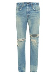Prps Fury Fit Ripped Light Wash Jeans