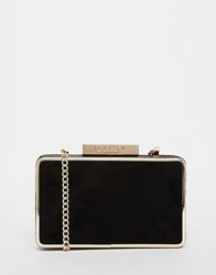 Lipsy Clutch In Black Suede Bk1