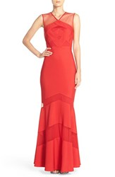 Js Collections Women's Ottoman Mermaid Gown Red