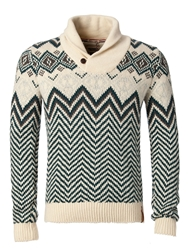 Tommy Hilfiger Elias Shawl Sweater Multi Coloured
