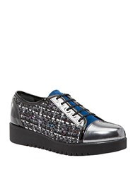 Aquatalia By Marvin K Ada Color Blocked Sneakers Gunmetal