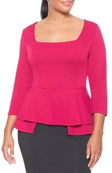 Plus Size Women's Eloquii Tiered Peplum Top