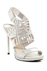 Kenneth Cole Niko Cutout Metallic Platform Sandal