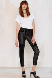 Nasty Gal American Nights Leather Moto Pants