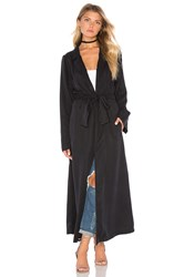 Kendall Kylie Duster Coat Black