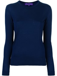 Ralph Lauren Purple Fine Knit Jumper Blue