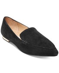 Steve Madden Women's Fausto Pointed Toe Loafers Women's Shoes Black Suede