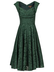 Jolie Moi Crossover Bust Ruched Prom Dress Dark Green