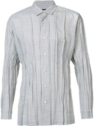 Issey Miyake Men Pleated Shirt Grey