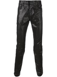 Faith Connexion Waxed Running Jeans Black