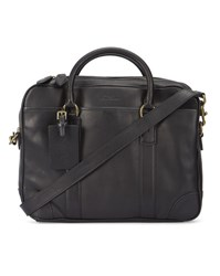 Polo Ralph Lauren Black Leather Briefcase