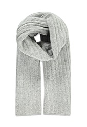 Forever 21 Chunky Ribbed Knit Scarf Heather Grey