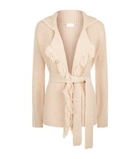 Escada Sport Belted Fringe Cardigan Female Beige