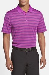 Cutter And Buck 'Editorial Stripe' Drytec Polo Magnetic Purple