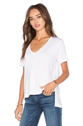 Feel The Piece Staton V Neck Short Sleeve Top White