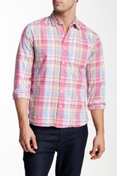 Bonobos Ray Plaid Long Sleeve Standard Fit Shirt Pink