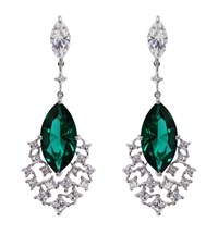 Carat Peacock Cocktails Drop Earrings Female