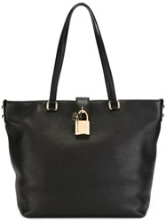 Dolce And Gabbana Large Trapeze Tote Black