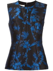 Stella Mccartney Sleeveless Floral Print Blouse Black