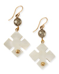 Ashley Pittman Vidogo Light Horn Clover Drop Earrings
