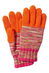 Missoni Wool Variegated Knit Gloves With Colorblock Multicolor