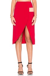Finders Keepers Boardwalks Skirt Red