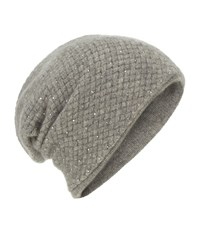 William Sharp Cashmere Waffle Knit Slouch Hat Female