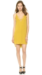 Mason By Michelle Mason Slip Dress With Lace Mustard