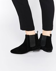 Faith Smith Black Leather Suede Ankle Boots Black