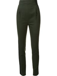 Haider Ackermann Pleated High Waisted Trousers Green