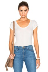 Frame Denim Scoop Back Tee In White