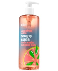 Bliss Pink Grapefruit And Aloe Soapy Suds Body Wash And Bubbling Bath 16 Oz.