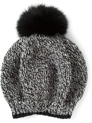 Moncler Tweed Beanie Black