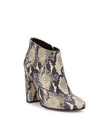 Sam Edelman Campbell Printed Leather Ankle Boots Ivory