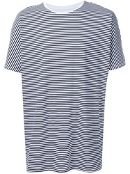 Zanerobe Striped Front T Shirt White