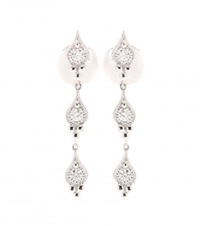 Stone Cry Me A River 18Kt White Gold Earrings With White Diamonds