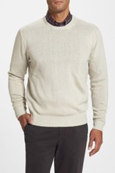 Peter Millar Classic Fit Silk Crewneck Sweater Beige