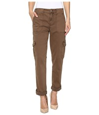 Level 99 Stacey Relaxed Cargo Cocoa Women's Casual Pants Brown