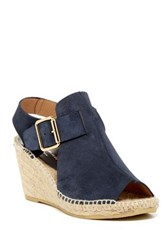 Bettye Muller Dawn Suede Woven Wedge Blue