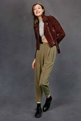 Silence And Noise Silence Noise Exposed Elastic Banded Trouser Pant Olive