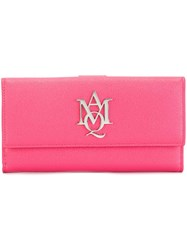 Alexander Mcqueen 'Insignia' Wallet Pink And Purple