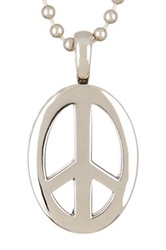 Lagos Peace Sign Pendant Necklace Metallic